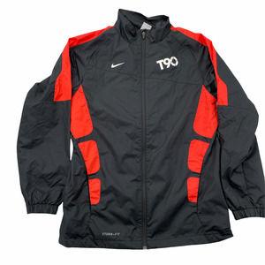 Nike Black Orange Total 90 Soccer Storm Fit Jacket